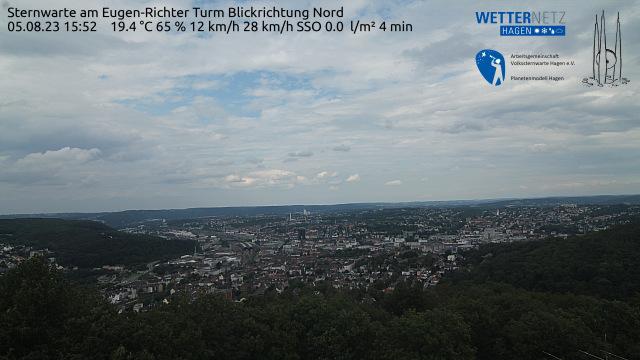 Blick über Hagen vom Eugen-Richter-Turm an der Sternwarte